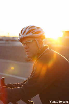 Sunrise over Cyclist - Steve Pratt