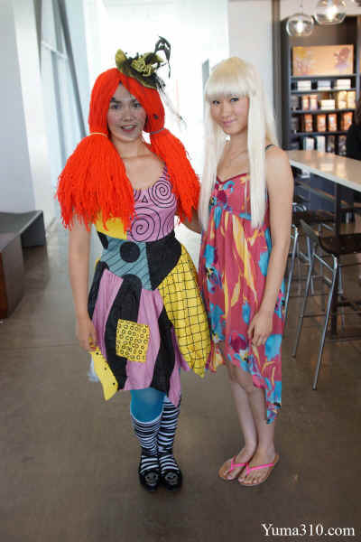 Aracelei Acosta (left), 21, attends her third year at Arizona Western College majoring in Business. Acosta from Yuma, Arizona is going to the Art Institute of Tucson. With a orange wig and green hat, Acosta casts herself as the Girl from Hocus Pocus.